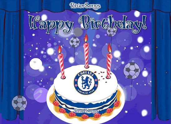 Chelsea FC Birthday Card View The Full Greeting With