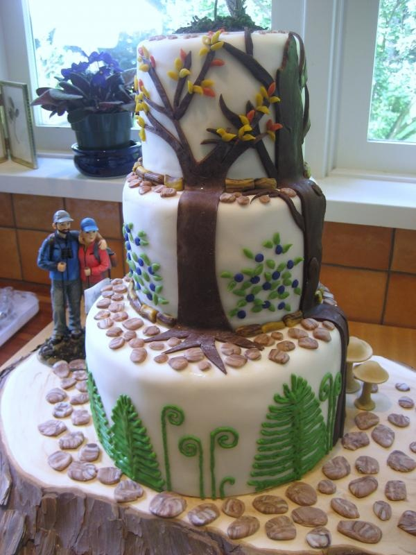 Hikers Wedding Cake I Mostly Like This Because The Bride