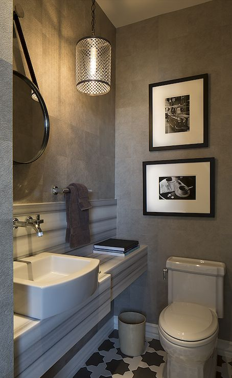 Artistic Designs For Living Bathrooms Gray Wallpaper