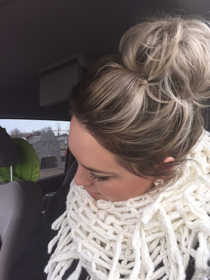 Loving My Shadow Root And Messy Bun Done By Myself