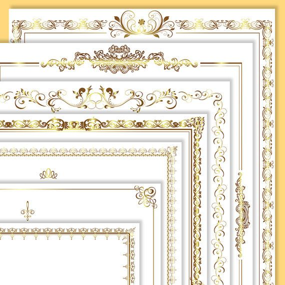 Party Black Borders And Gold Symbols