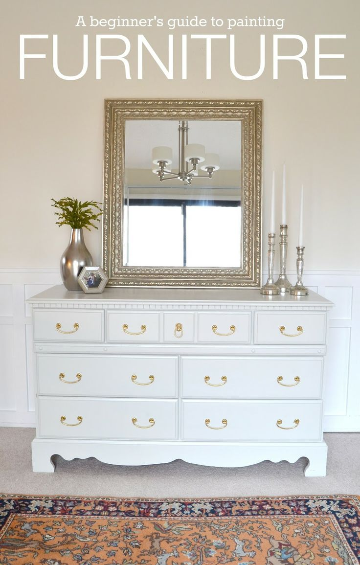 A guide to painting furniture. This tutorial makes it so
