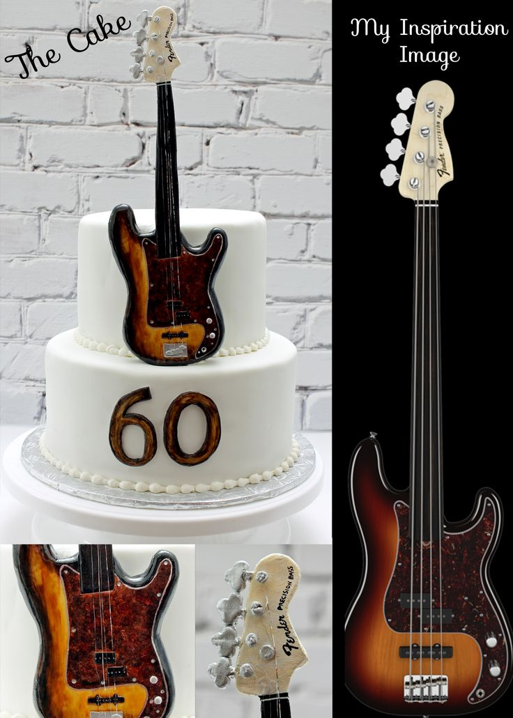 Guitar Cake Cakes Guitar Pinterest Bass Guitars
