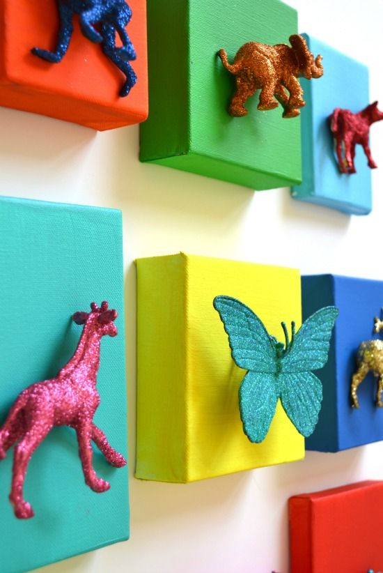 bright buck canvas – Google Search  i like this idea for the boys playroom. Minus the glitter though