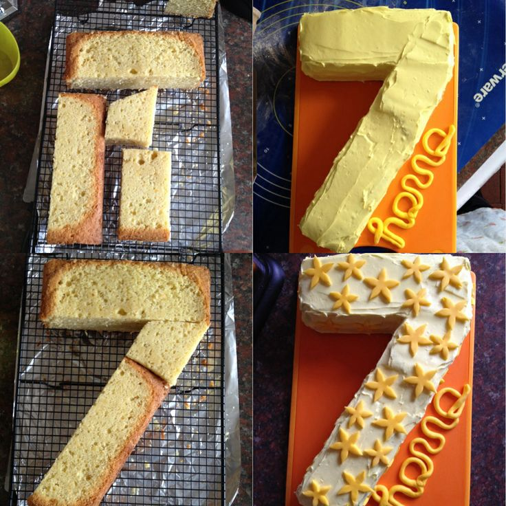 How To Make A Number 7 Cake Elize Pinterest Cakes
