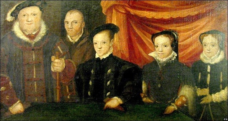 Awkward Tudor family portrait Henry VIII with his