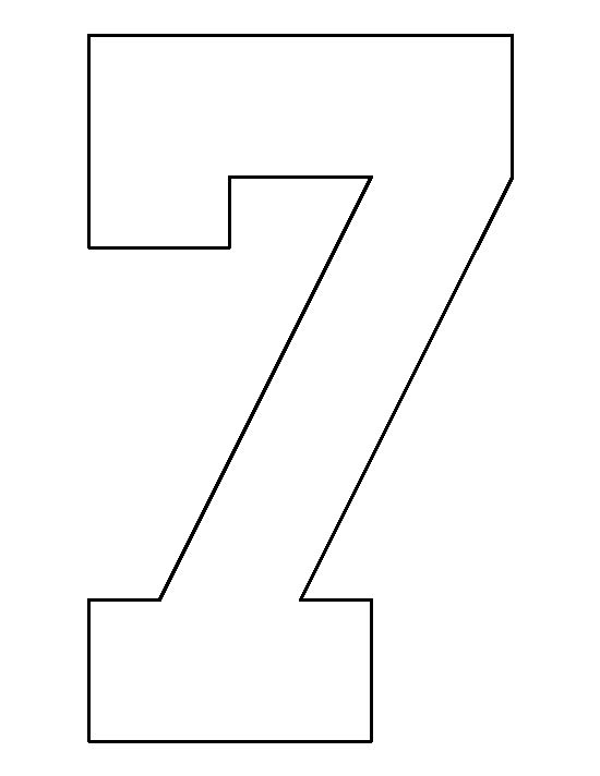 Number 7 pattern. Use the printable outline for crafts ...