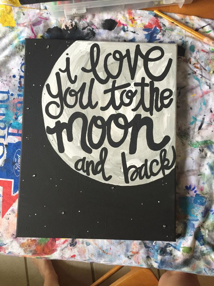 I Love You Canvas Painting