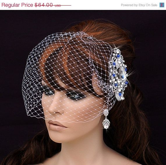Birdcage Veil And Crystal Comb Bird Cage Veil Bridal