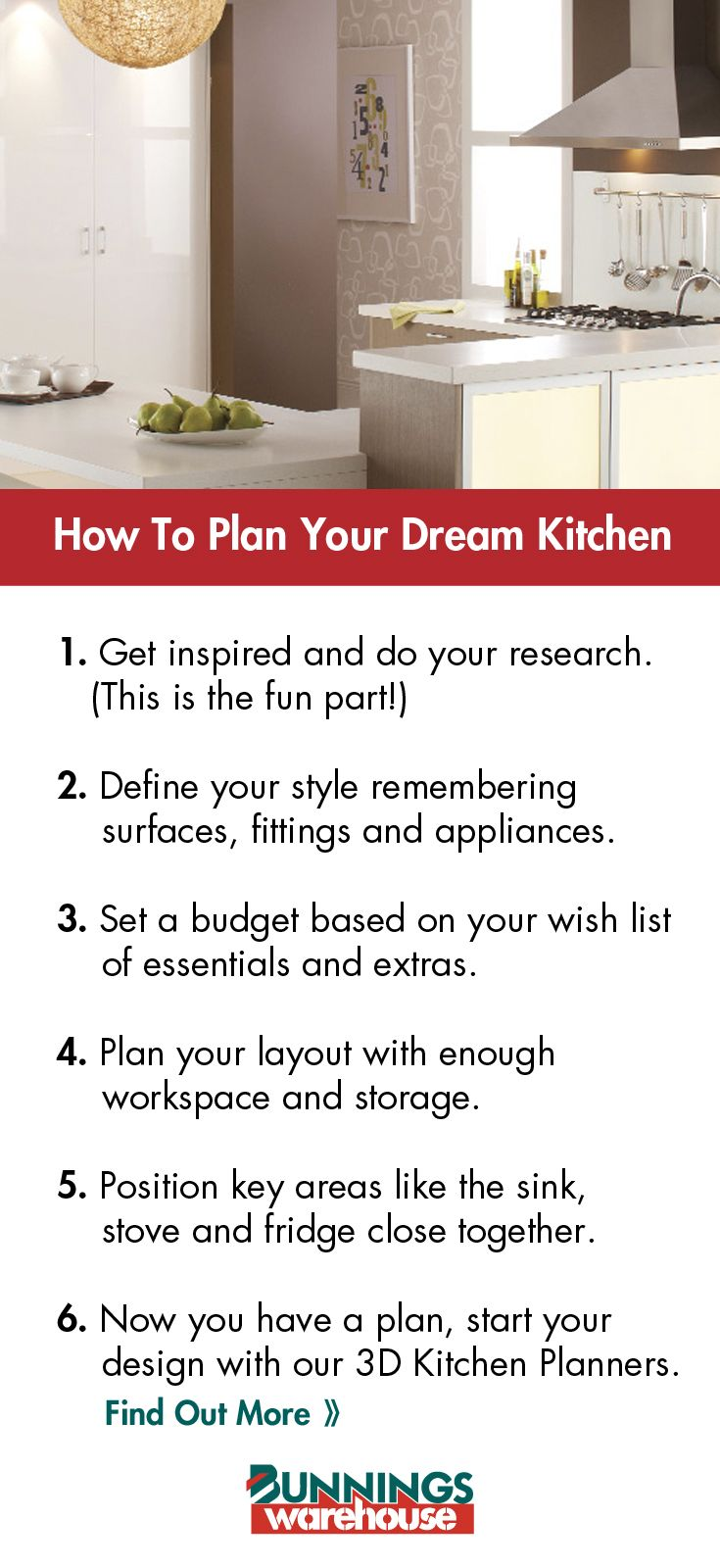 Planning is key to designing your perfect kitchen. Make
