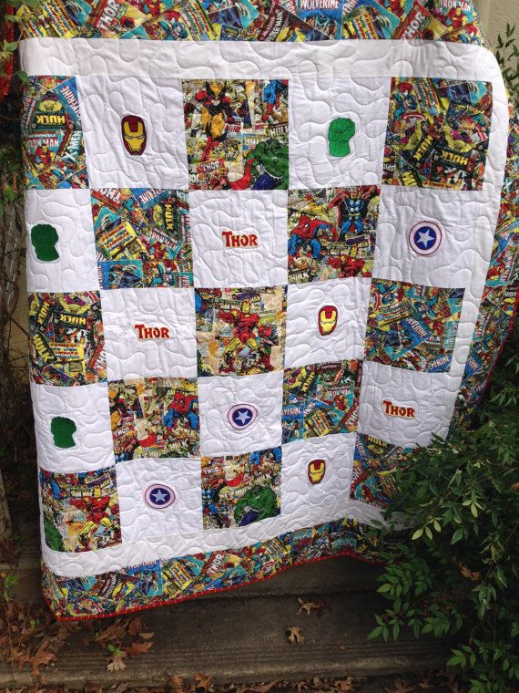Avengers Superhero Quilt By Waddlles On Etsy 225 00