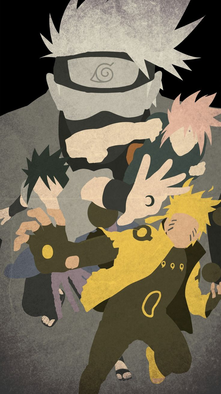 Naruto Minimalist Mobile Wallpaper narutoo Pinterest