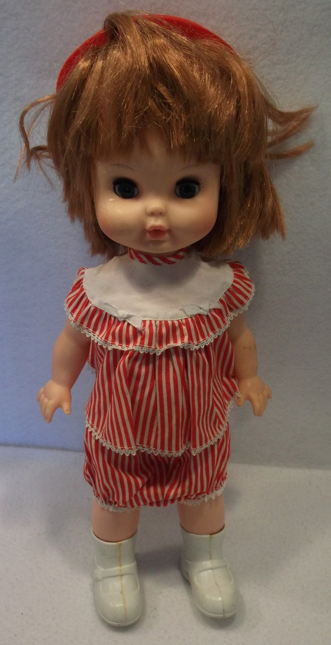 "VINTAGE 1965 REMCO BABY WALK ALONE 15"" doll NON WORKING"
