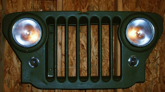 Vintage Willys Jeep Front Grill CJ2A Upcycled By MostlyMadelines 34500 Guy Stuff