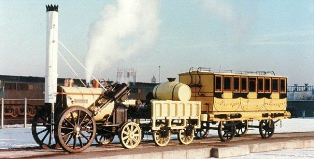 "A locomotiva ""Rocket"" criada por George Stephenson em 1829. Foto retirada do site Dailymail.co.uk:"