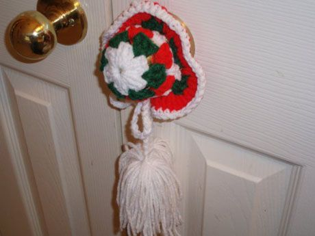 Crochet Door Knob Pattern Doubtblush Wreck The Halls Crochet Doorknob Covers Crafts