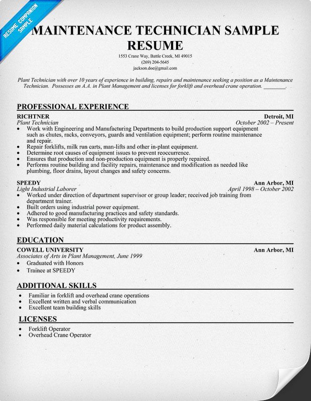 Hvac Technician Resume Example. Unforgettable Hvac And