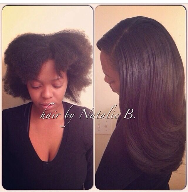 Natural Hair Is NO Problem For Me FLAWLESS SEW IN HAIR