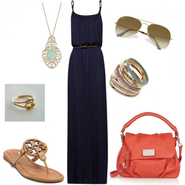 maxi dress polyvore outfits