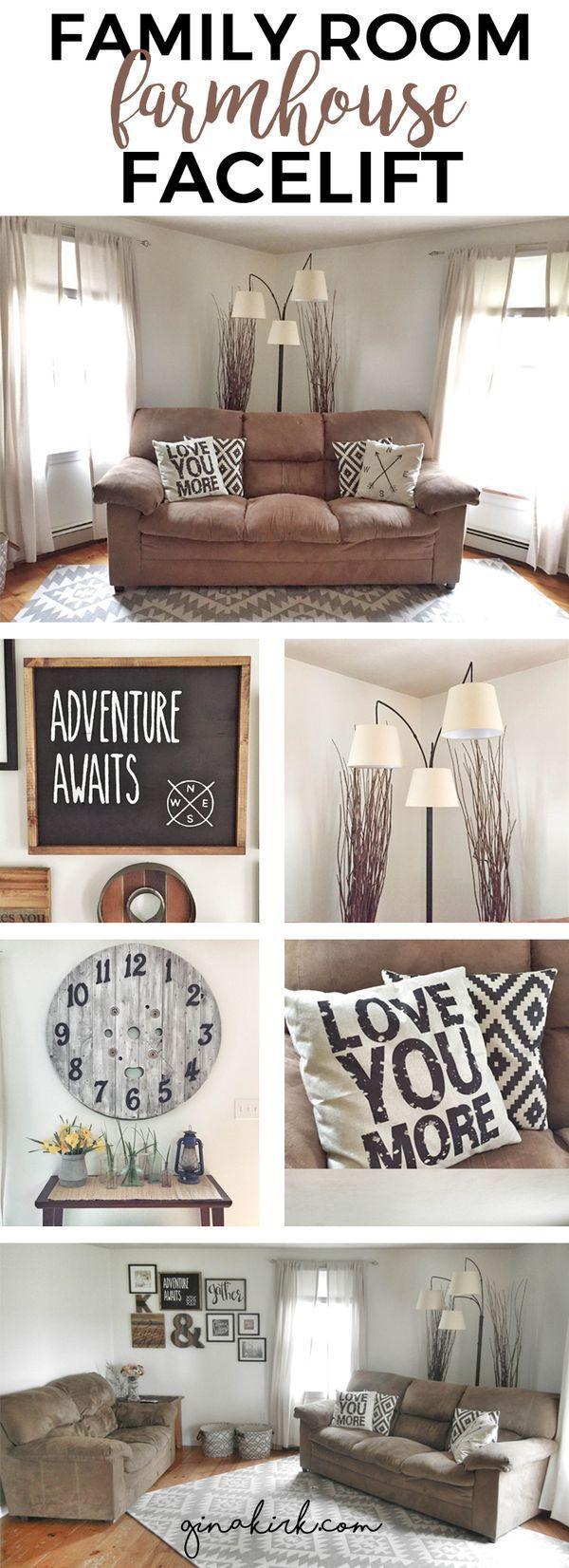 1000 Ideas About Farmhouse Family Rooms On Pinterest