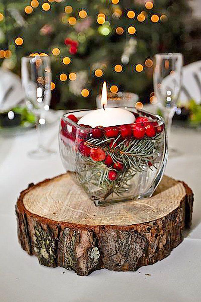 Christmas Wedding Reception Decorations
