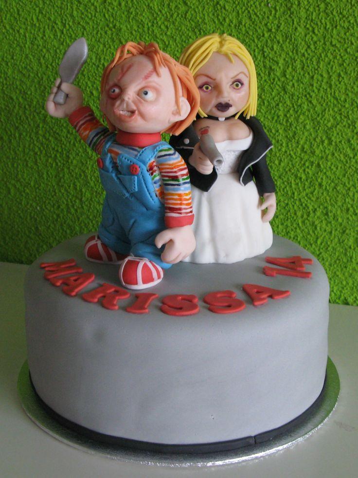 Chucky And Bride Cake Taartmama Nl Cake Ideas