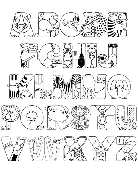 alphabet zoos and alphabet coloring pages on pinterest