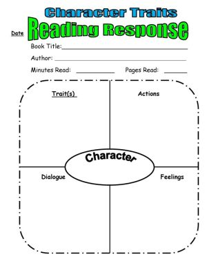 Character Trait Reading Response from Scholastic Top Teaching | For the Classroom | Pinterest