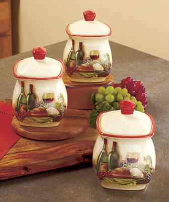 Vineyard Kitchen Themes And Canister Sets On Pinterest