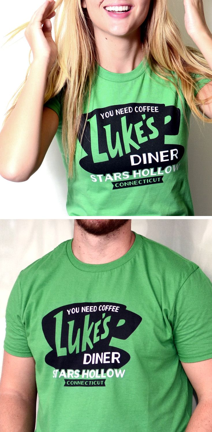 """Get used to hearing, """"Where'd you get that shirt? I love it!"""" Luke's Diner, Stars Hollow, CT t-shirt for men, women and kids"""