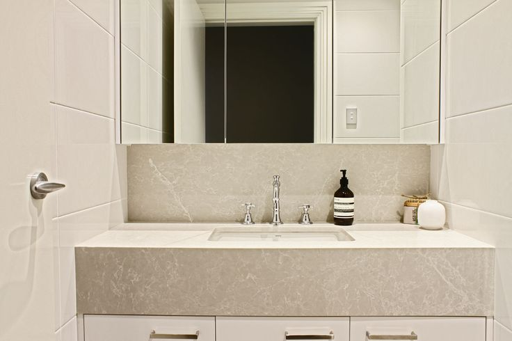 Image result for caesarstone alpine mist bathroom vanity