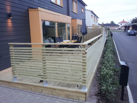 Timber Balcony Railing