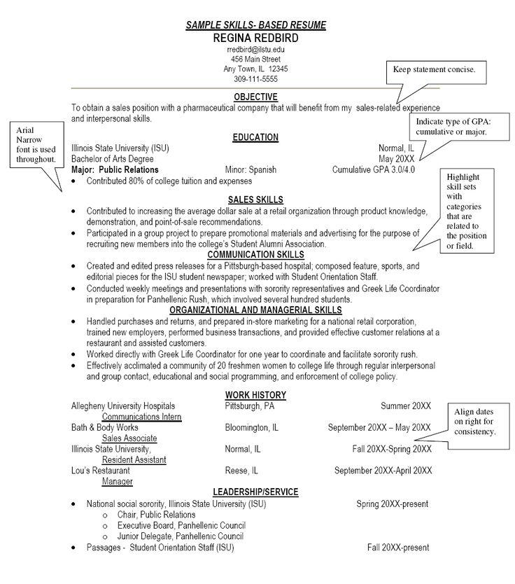 Sample Resume Skills Based Resume http//www