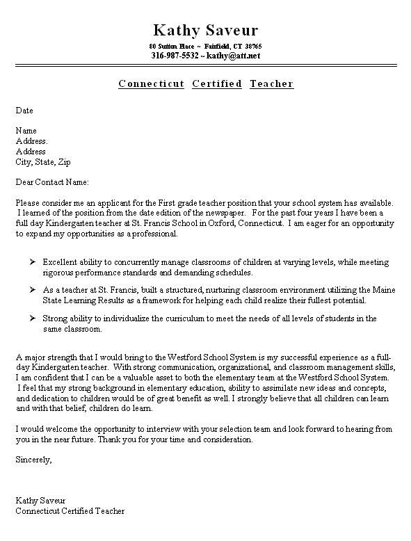 sample resume cover letter for teacher thuogh you could get inspired