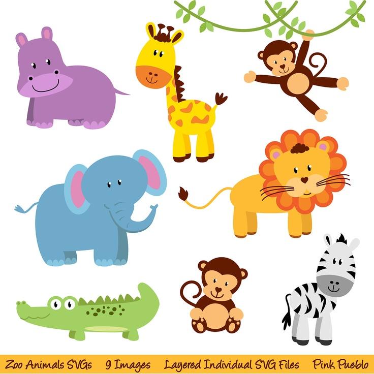Zoo Animals SVGs, Zoo Safari Jungle Animals Cutting