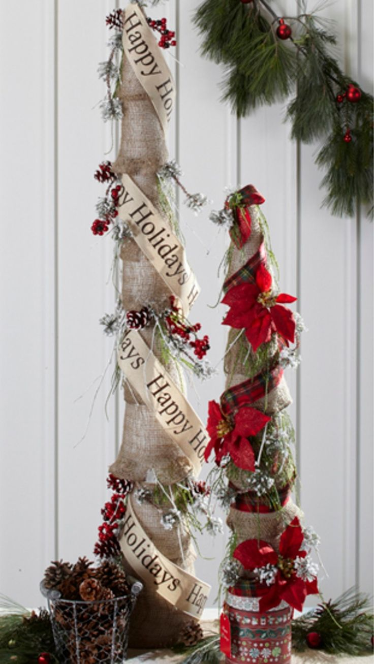 The sky' s the limit with these DIY burlap holiday trees