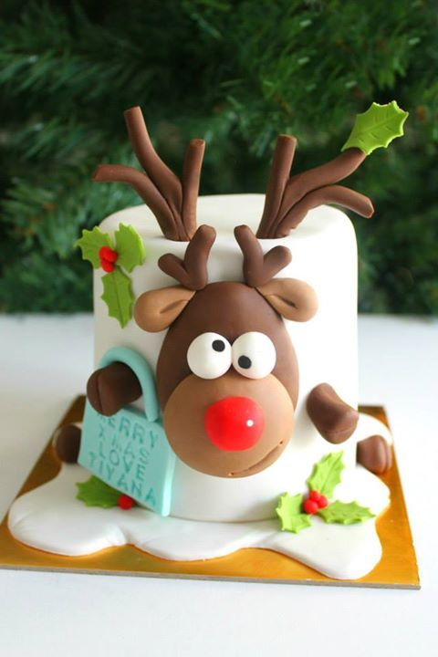 1631 Best Images About Christmas Cakes On Pinterest