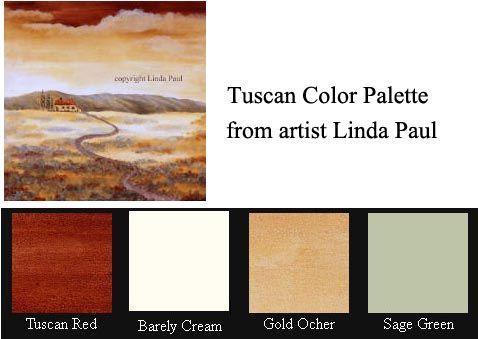 Tuscan Colors Tuscan Color Palette Paint Colors