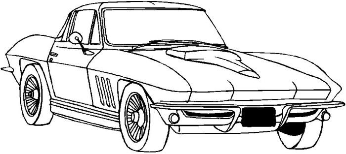 corvettes coloring pages and coloring on pinterest