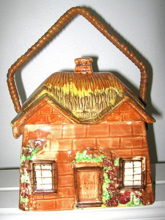 Vintage 1950s English Cottage Cookie Jar Price Bros
