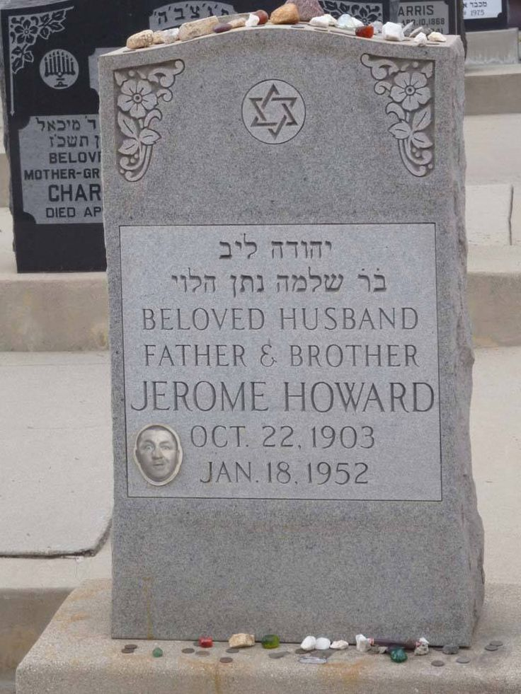 Jerome (Curly) Howard at Home of Peace Cemetery in East