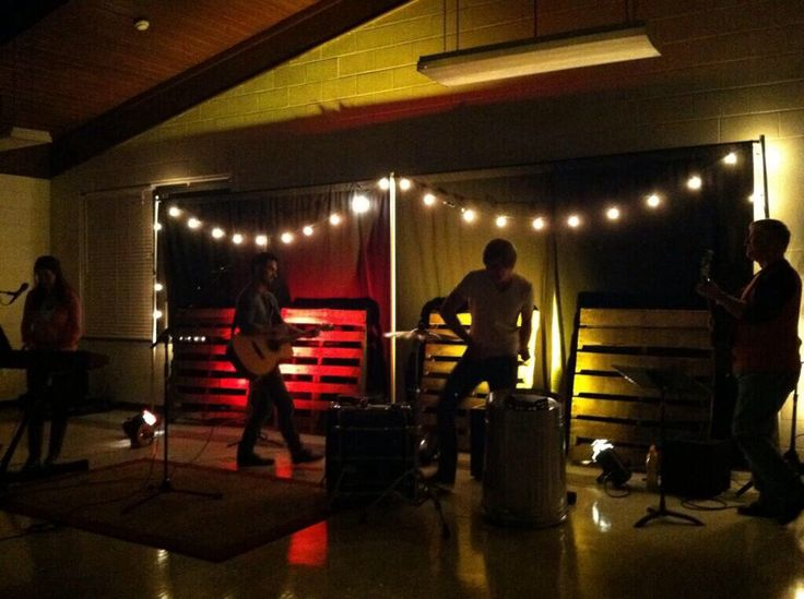Simple Small Stage Idea Pallets And Lights Simple