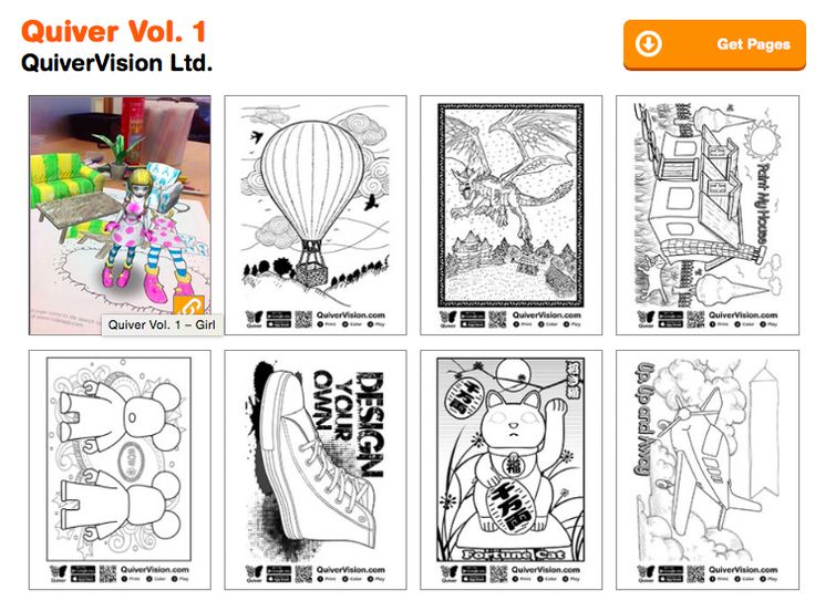 quiver augmented reality and coloring pages on pinterest