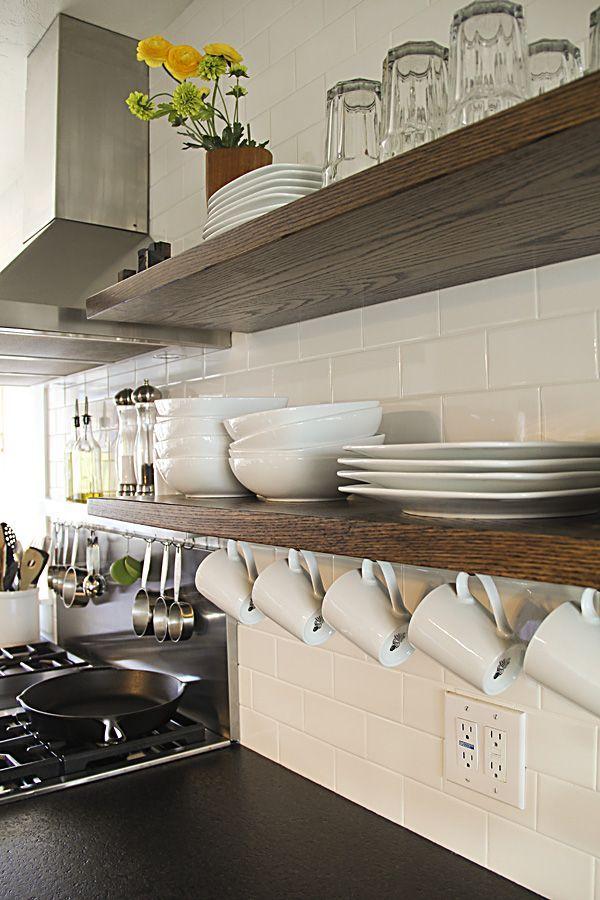 Kitchen Shelves Storage Hacks Floating