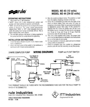 Rule Bilge Pump Switch Wiring Diagram | Boat electronics