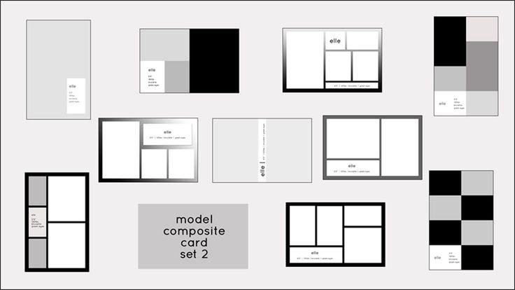 Model comp card templates model composite card templates