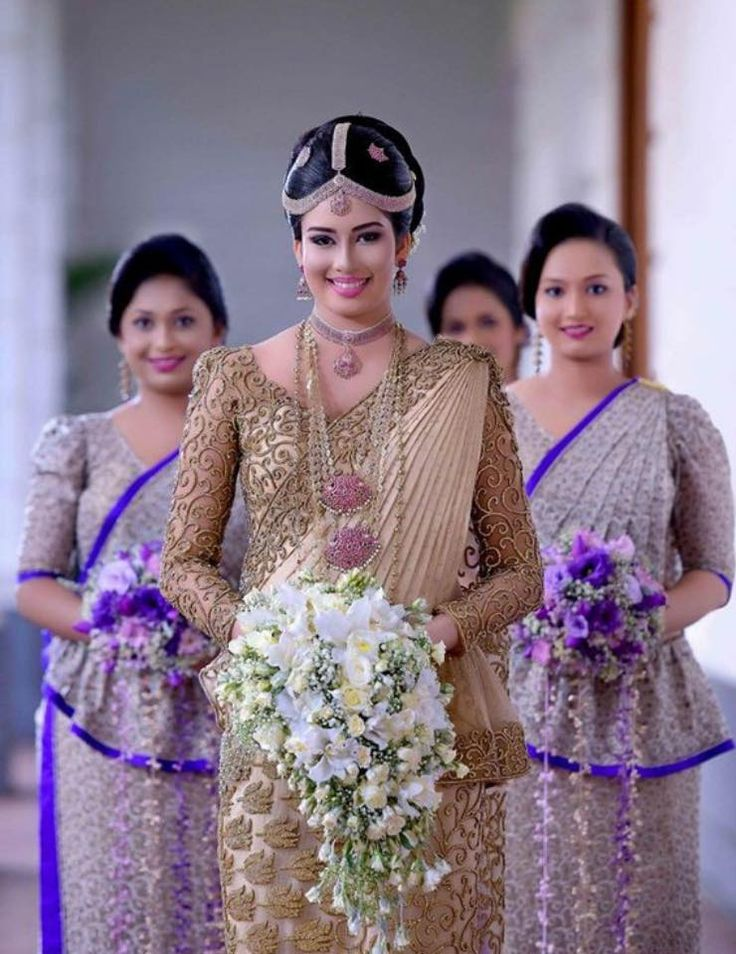 Sri Lankan bride Sri Lankan Weddings Pinterest Brides