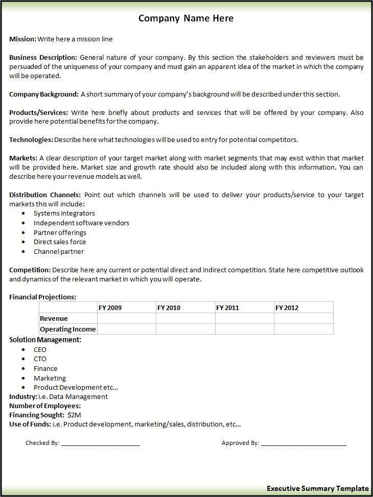 Course Summary Template. Best Executive Summary Resume Example