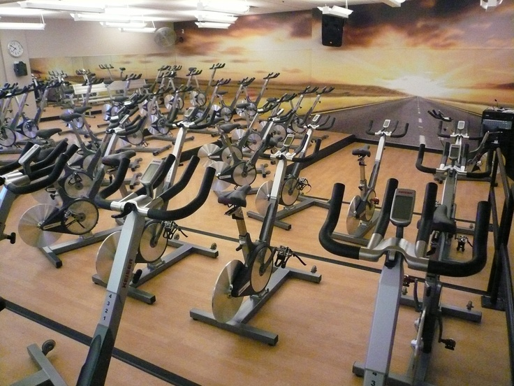 Cushioned sports vinyl used in a Spin studio in Hamptons