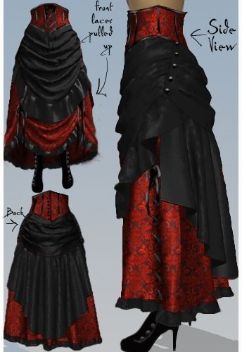 Victorian Steampunk Bustle Skirt -Amber Middaugh 2015